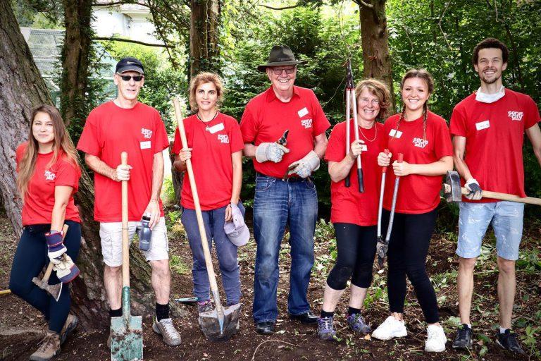 photos de bénévoles au Bioparc