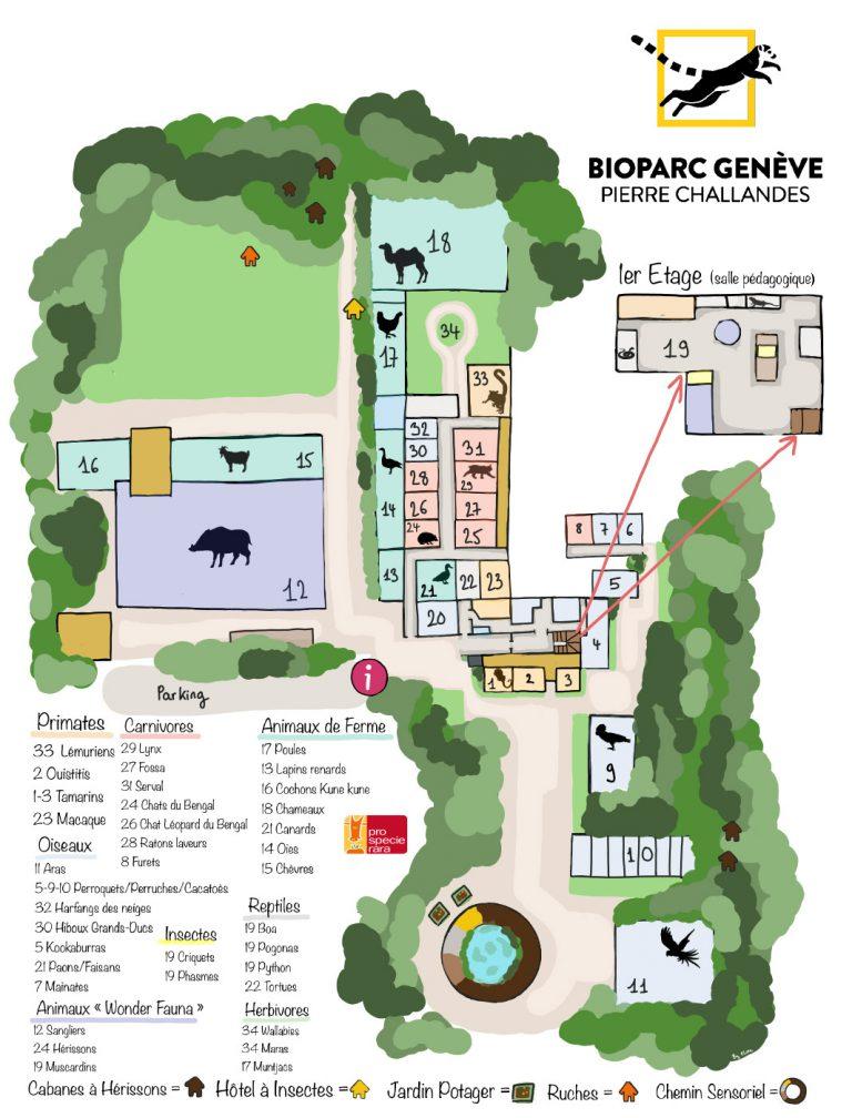 Plan du Bioparc